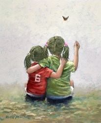Butterfly by Keith Proctor - Original Painting on Stretched Canvas sized 20x24 inches. Available from Whitewall Galleries